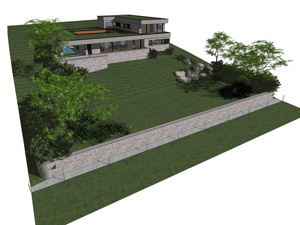 novostavba rodinné vily v údolí Berounky