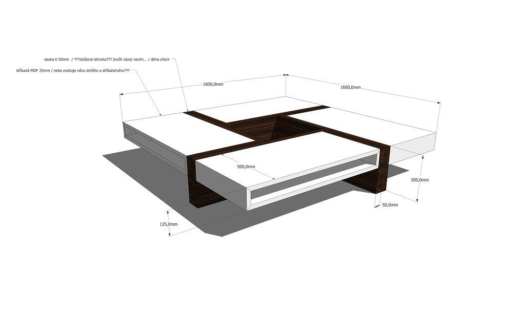 stolek návrh